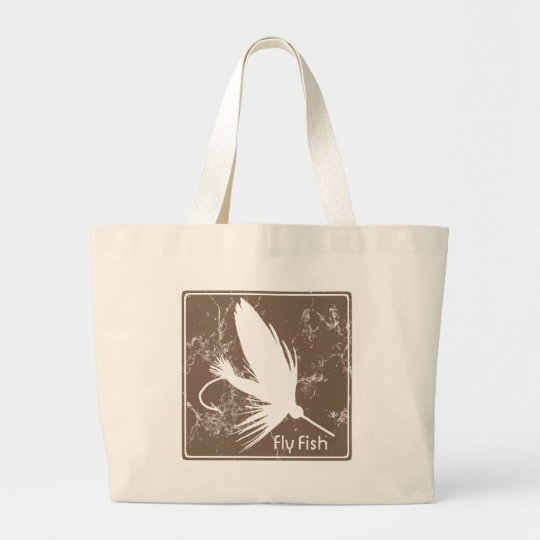 Fly Fishing Lure Large Tote Bag