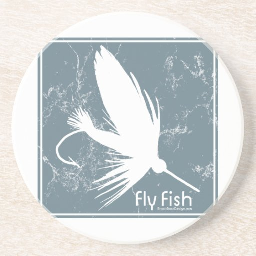 Fly Fishing Lure Sandstone Coaster