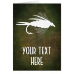 Fly Fishing lure to Personalize Card