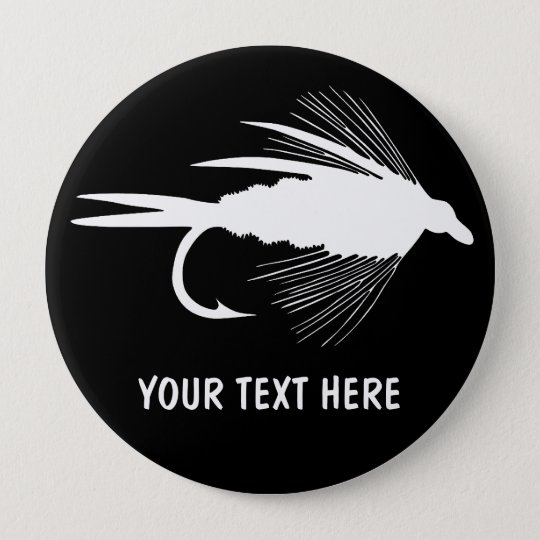 Fly Fishing lure to Personalize Pinback Button