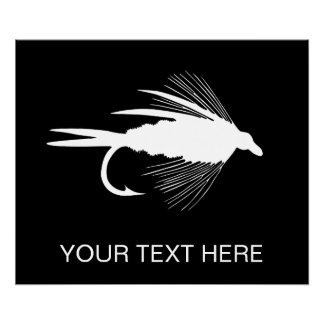Fly Fishing lure to Personalize Poster