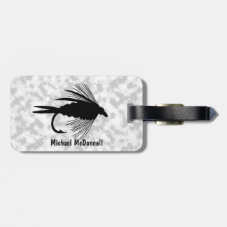 Fly Fishing lure to Personalize Travel Bag Tag
