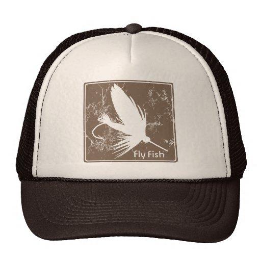 Fly fishing lure trucker hat zazzle for Fly fishing trucker hat