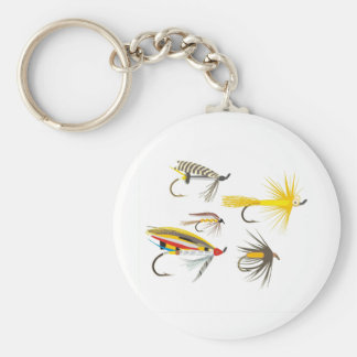 Fly Fishing Lures Keychain