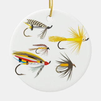 Fly Fishing Lures Christmas Ornaments