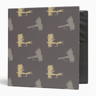 Fly Fishing Lures Pattern 3 Ring Binder