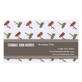 Fly Fishing Lures Pattern Business Cards