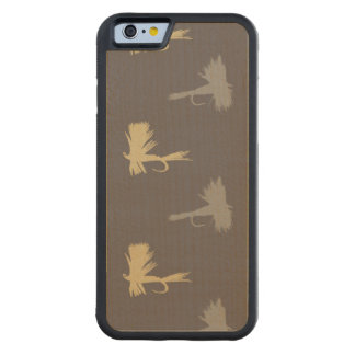 Fly Fishing Lures Pattern Carved Maple iPhone 6 Bumper Case