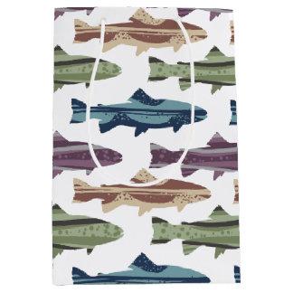 Fly Fishing Lures Pattern Medium Gift Bag