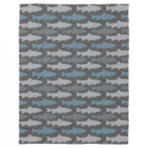 Fly Fishing Lures Pattern Fleece Blanket