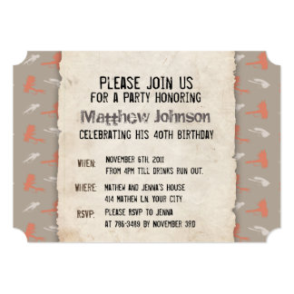 Fly Fishing Lures Pattern Fun Birthday Party 5x7 Paper Invitation Card