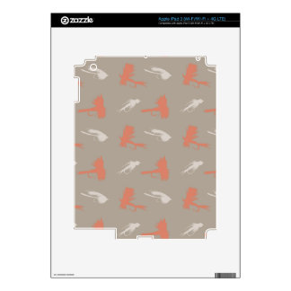 Fly Fishing Lures Pattern iPad 3 Decals