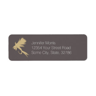 Fly Fishing Lures Pattern Label