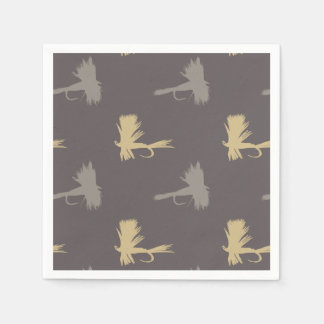 Fly Fishing Lures Pattern Paper Napkin