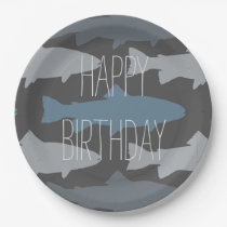 Fly Fishing Lures Pattern Paper Plate