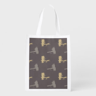 Fly Fishing Lures Pattern Reusable Grocery Bag
