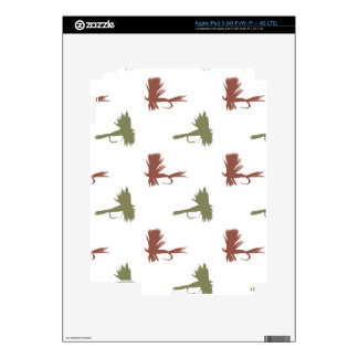 Fly Fishing Lures Pattern Skin For iPad 3