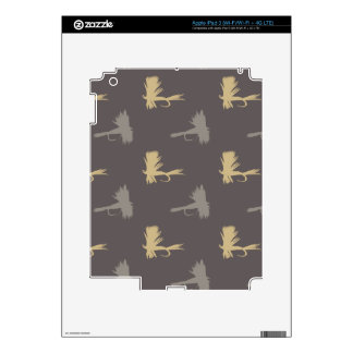 Fly Fishing Lures Pattern Skins For iPad 3