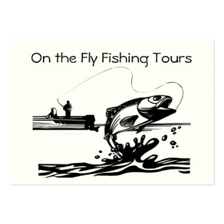 Fly Fishing on Lake Guiding Service Biz Business Card