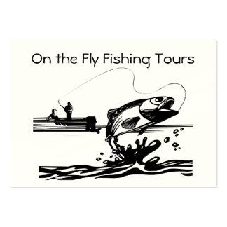 Fly Fishing on Lake Guiding Service Biz Large Business Card