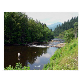 Fly Fishing on the Au Sable Poster