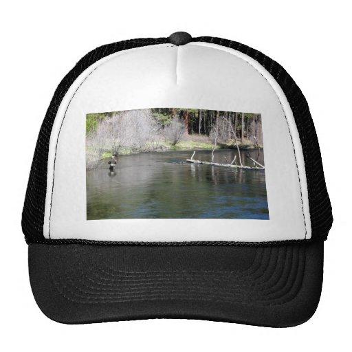 Fly fishing on the metolius trucker hat zazzle for Fly fishing trucker hat