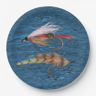 FLY FISHING PAPER PLATE