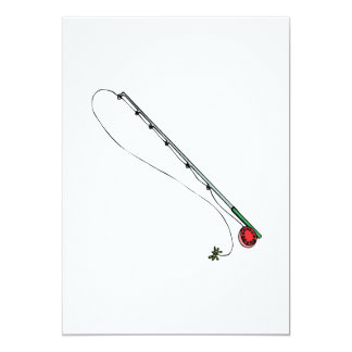 Fly Fishing Pole 5x7 Paper Invitation Card