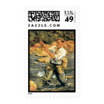 fly fishing postage stamps