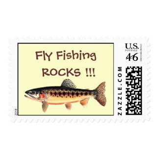 Fly Fishing Postage with trout