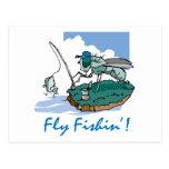 Fly Fishing Postcard