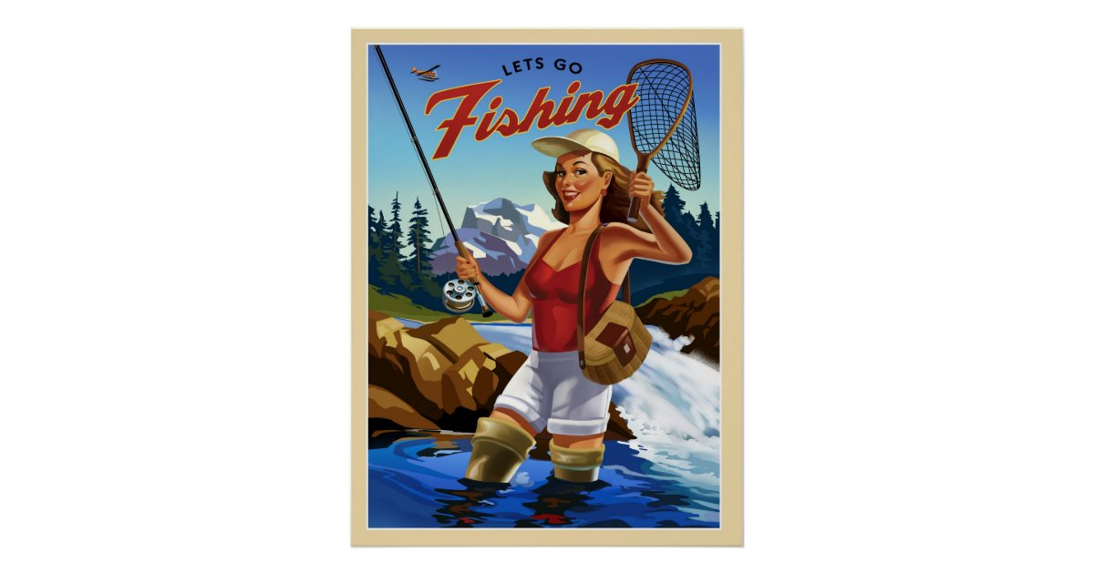 Fly fishing poster zazzle for Fly fishing posters