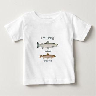 Fly Fishing Rainbow Trout - Steelhead Baby T-Shirt
