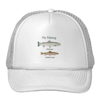 Fly Fishing Rainbow Trout - Steelhead Mesh Hats