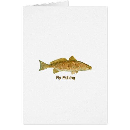 Fly Fishing Redfish Card