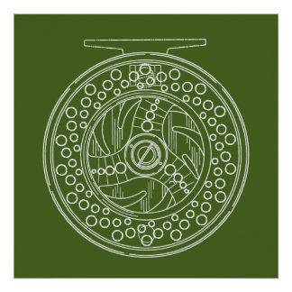 Fly Fishing Reel Art for Great Room Decor
