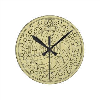 Fly Fishing Reel Round Clock