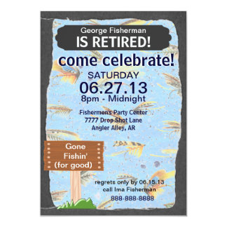 Fly Fishing Retirement Party celebration Card