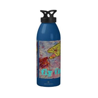 fly fishing rocks reusable water bottle