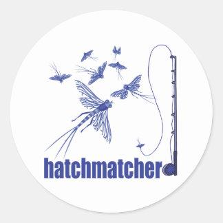 Fly Fishing Round Sticker