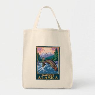 Fly Fishing Scene - Dawson, Alaska Tote Bag