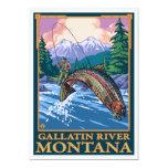 "Fly Fishing Scene - Gallatin River, Montana 5"" X 7"" Invitation Card"