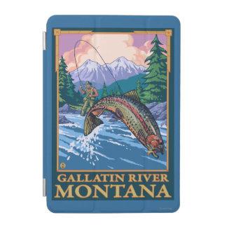 Fly Fishing Scene - Gallatin River, Montana iPad Mini Cover