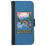 Fly Fishing Scene - Gallatin River, Montana iPhone 6/6s Wallet Case