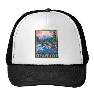 Fly Fishing Scene - Gallatin River, Montana Trucker Hat