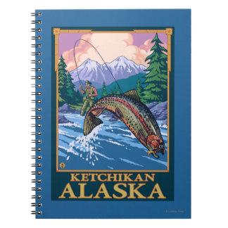 Fly Fishing Scene - Ketchikan, Alaska Notebook