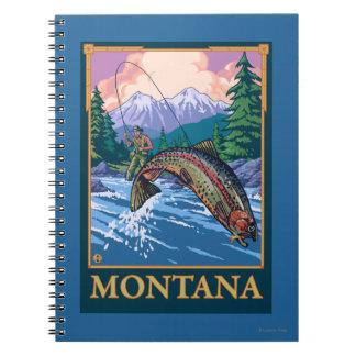 Fly Fishing Scene - Montana Spiral Notebook