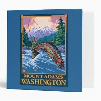 Fly Fishing Scene - Mount Adams, Washington Binder