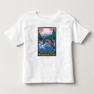Fly Fishing Scene - Mount Adams, Washington Toddler T-shirt