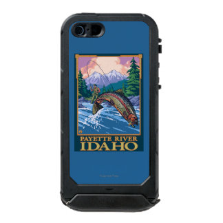 Fly Fishing Scene - Payette River, Idaho Waterproof Case For iPhone SE/5/5s